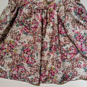 Forever21 Colorful Floral Print Circle Skirt